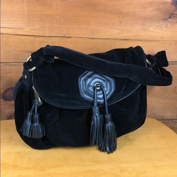 Marc Jacobs Handbags - Marc Jacobs 🐦 Black Velvet Slouchy Shoulder Bag